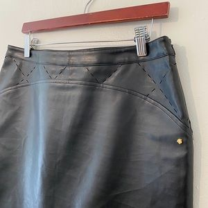 VERSACE Jeans Couture Leather Skirt